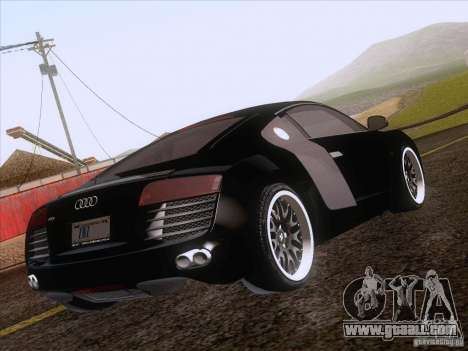 Audi R8 Hamann for GTA San Andreas bottom view
