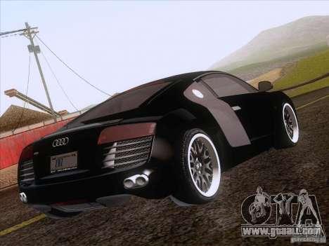 Audi R8 Hamann for GTA San Andreas bottom view