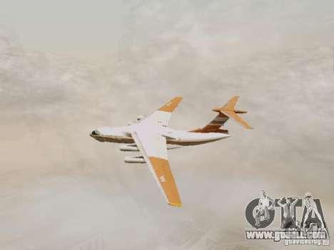 Ilyushin Il-76td for GTA San Andreas back view