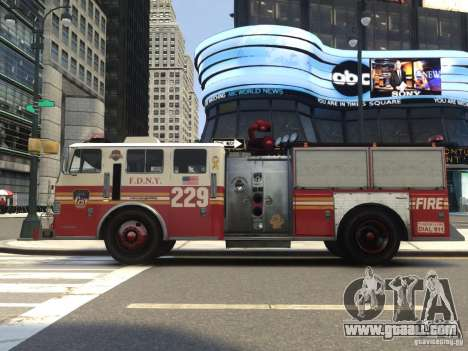 Fire Truck FDNY for GTA 4 back view