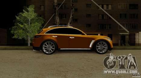 Infiniti FX37 v1 for GTA San Andreas back left view