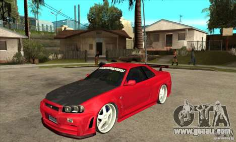 Nissan Skyline GTR-34 Carbon Tune for GTA San Andreas