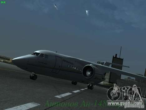 Antonov an-148 Aerosvit Ukrainian Airlines for GTA San Andreas left view