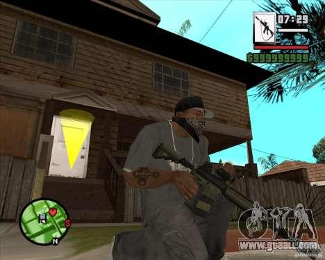 HQ M4A1 - DMG MK11 for GTA San Andreas third screenshot