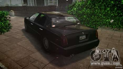 Washington FBI Car for GTA 4 back left view