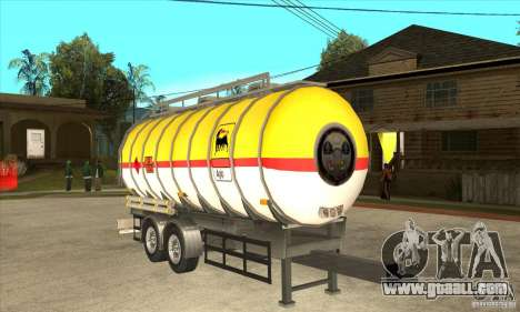 Trailer Tunk for GTA San Andreas back view