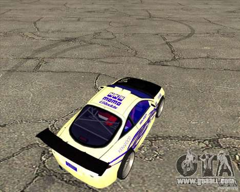 Mitsubishi Eclipse street tuning for GTA San Andreas back left view