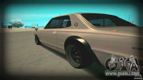 Nissan Skyline 2000GT-R JDM Style for GTA San Andreas back left view