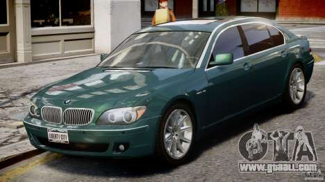 BMW 7 Series E66 for GTA 4 inner view