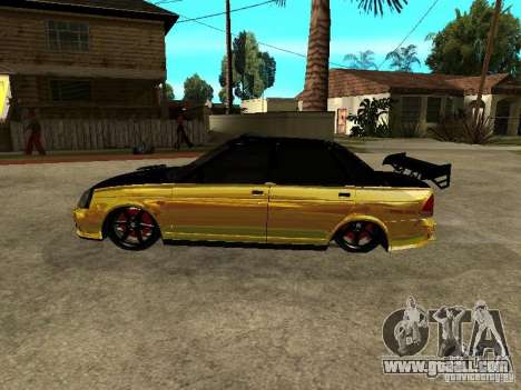 Lada 2170 Priora GOLD for GTA San Andreas back left view
