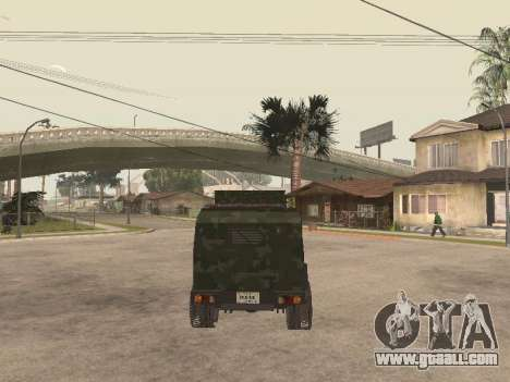 Oshkosh SandCat of Mexican Army for GTA San Andreas back view