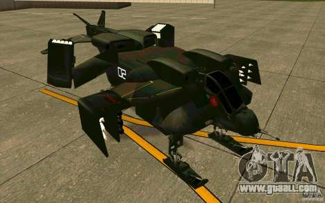 Aliens vs. Predator Marine Drobship for GTA San Andreas left view