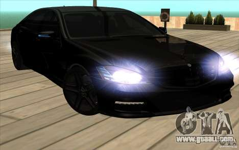 Mercedes-Benz S65 AMG with flashing lights for GTA San Andreas inner view