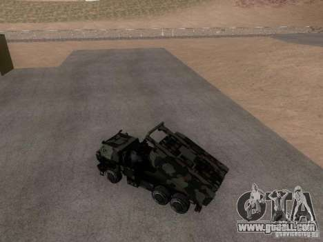 M142 HIMARS Artillery for GTA San Andreas back left view