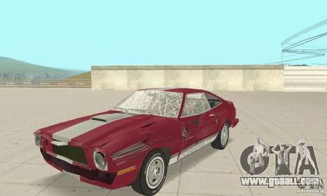 Ford Mustang II 1976 Cobra v. 1.01 for GTA San Andreas inner view