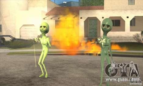 Alien for GTA San Andreas fifth screenshot