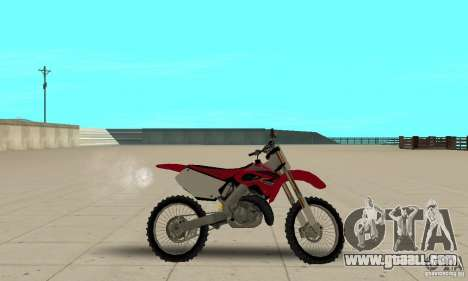 Honda CR125 for GTA San Andreas