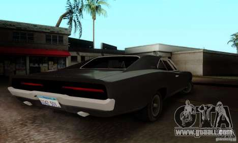 Dodge Charger RT for GTA San Andreas back left view