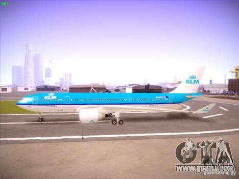 Airbus A330-200 KLM Royal Dutch Airlines for GTA San Andreas back view