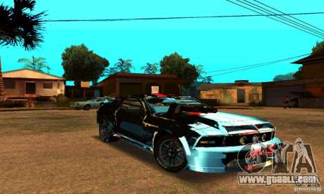 Ford Mustang Shelby GT500 From Death Race Script for GTA San Andreas inner view