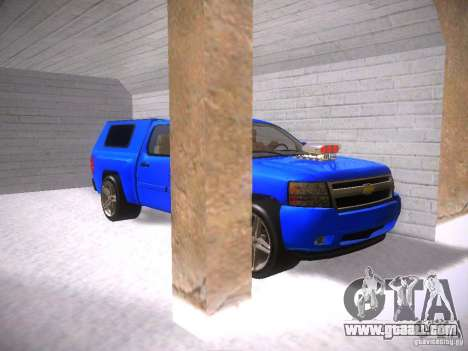 Chevrolet Silverado for GTA San Andreas inner view
