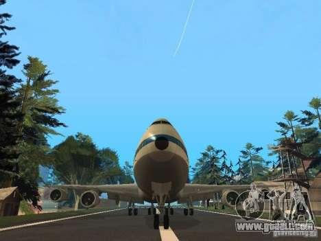 Boeing 747-100 Pan American Airways for GTA San Andreas back view