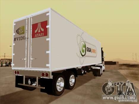 Caband trailer for GTA San Andreas back left view