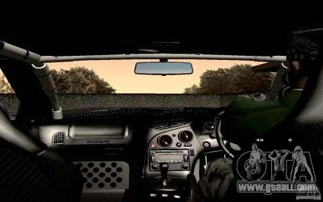 Mazda RX-7 Hellalush for GTA San Andreas bottom view