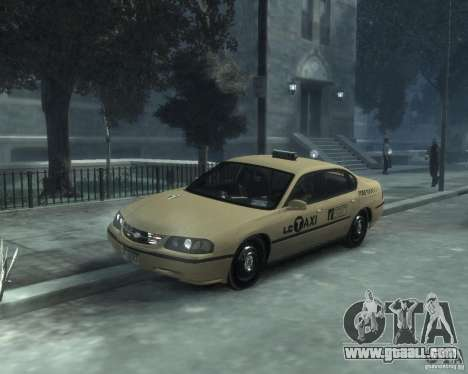 Chevrolet Impala 2003 Taxi for GTA 4 left view