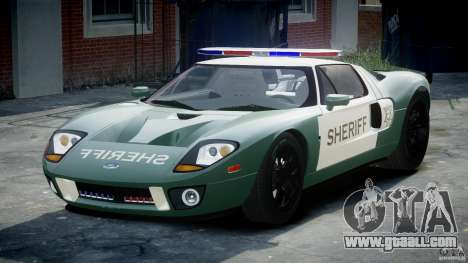 Ford GT1000 Hennessey Police 2006 [EPM][ELS] for GTA 4 back view