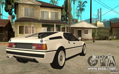 BMW M1 1981 for GTA San Andreas right view