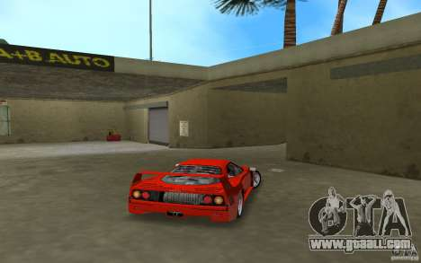 Ferrari F40 for GTA Vice City back view