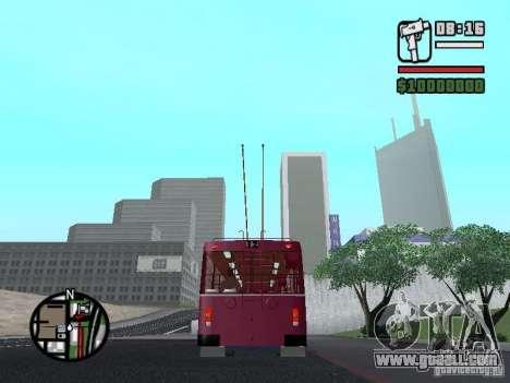 ZIU 682GM1 for GTA San Andreas back left view