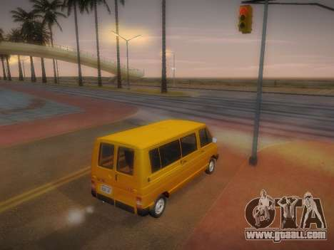 Renault Trafic T1000D Minibus for GTA San Andreas inner view
