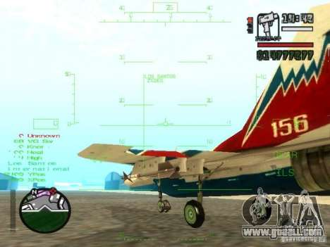 MIG 29 OVT for GTA San Andreas inner view