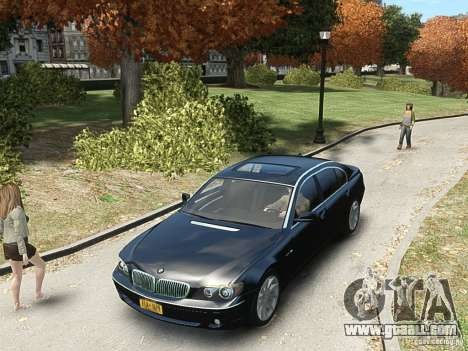 BMW 7 Series E66 2011 for GTA 4 back view