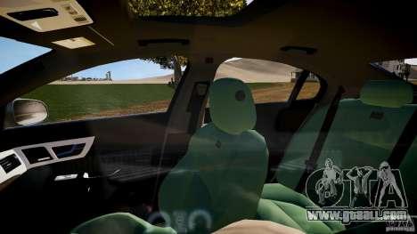 Jaguar XFR 2010 for GTA 4 inner view