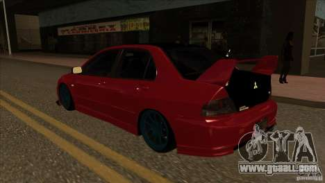 Mitsubishi Lancer Evo 8 Street Drift for GTA San Andreas back left view