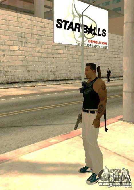 Weapons on body for GTA San Andreas third screenshot
