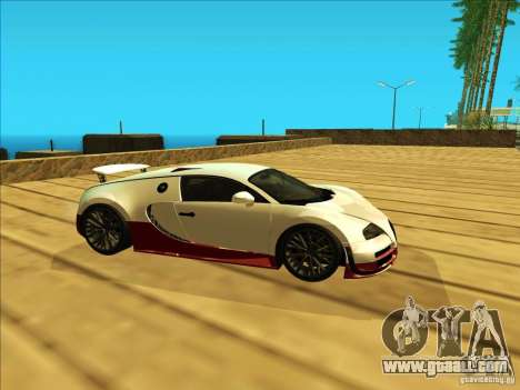 Bugatti Veyron for GTA San Andreas left view