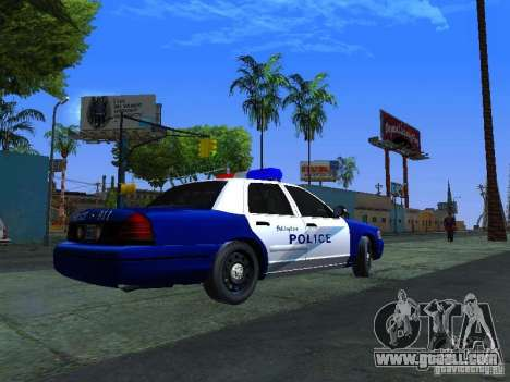 Ford Crown Victoria Belling State Washington for GTA San Andreas back left view