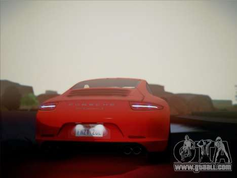 Porsche 911 (991) Carrera S for GTA San Andreas right view