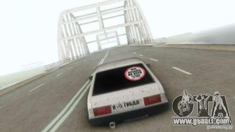 Vaz 2109 Hobo for GTA San Andreas inner view
