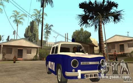 Dacia 1100 Militie for GTA San Andreas back view