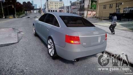 Audi A6 TDI 3.0 for GTA 4 back left view