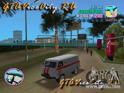UAZ ambulance v2.0 for GTA Vice City