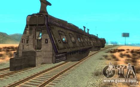 A train from the game Aliens vs Predator v1 for GTA San Andreas right view