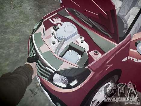 Dacia Sandero Stepway for GTA 4 bottom view