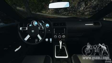 Dodge Challenger SRT8 2009 [EPM] for GTA 4 back view