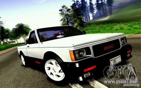 GMC Syclone Stock for GTA San Andreas back view